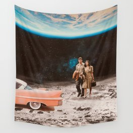 Moon date Wall Tapestry