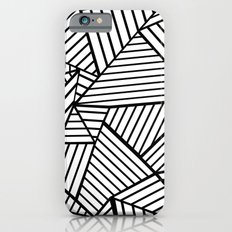 Abstraction Lines Close Up Black and White Slim Case iPhone 6