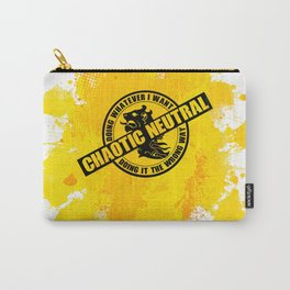 Chaotic Neutral RPG Game Alignment Carry-All Pouch
