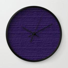 Gentian Violet Wood Grain Color Accent Wall Clock