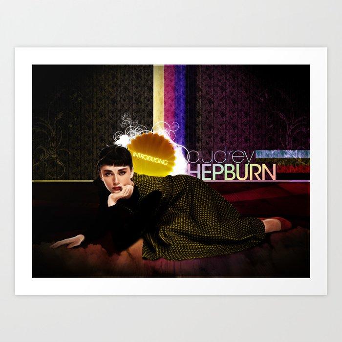 Introducing... Audrey Hepburn Art Print