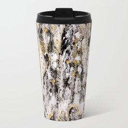 Black Gold, acrylic on canvas, dirty pouring medium Travel Mug