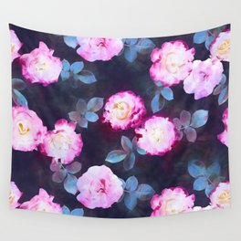 Twilight Roses Wall Tapestry