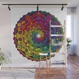 Time Dilation - Psychedelic Mandala Rainbow series Wall Mural