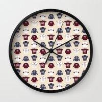 nfl Wall Clocks featuring Birth of Pro Football by Joe Gemma