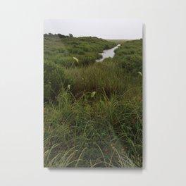 Rain on Stream No.1 Metal Print