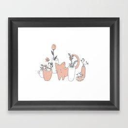 Fatty cat Framed Art Print