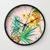 hawaii Wall Clocks featuring Hawaii by 83 Oranges™