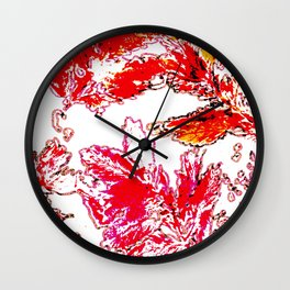 Autumn stamping leaves Wall Clock
