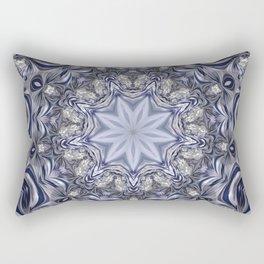 estrella entre azules y blanco Rectangular Pillow