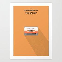 Guardians of the galaxy - minimal poster Art Print
