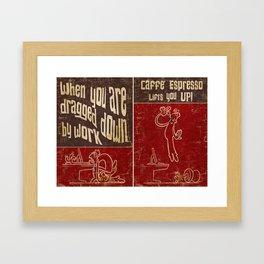 Caffe' Espresso Framed Art Print