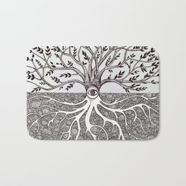 Tree of Life as above so below Bath Mat