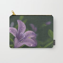 Purple lily flower Carry-All Pouch