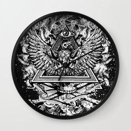 Illuminati Temple Crest Wall Clock