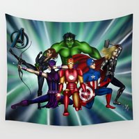 heroes Wall Tapestries featuring Heroes by Callie Clara