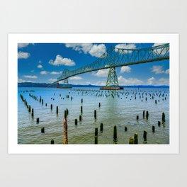 Astoria Oregon Bridge Art Print