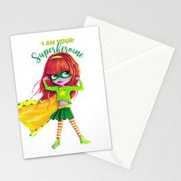 SUPERHEROINE Stationery Cards