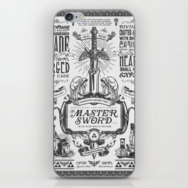 Legend of Zelda Vintage Master Sword Advertisement iPhone Skin