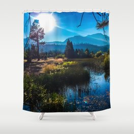Tahoe Mountains Shower Curtain