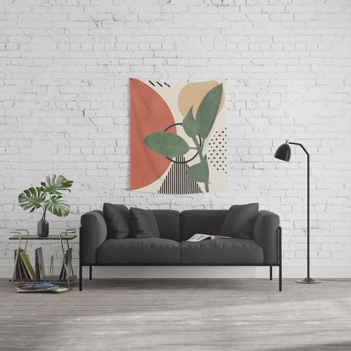Nature Geometry III Wall Tapestry