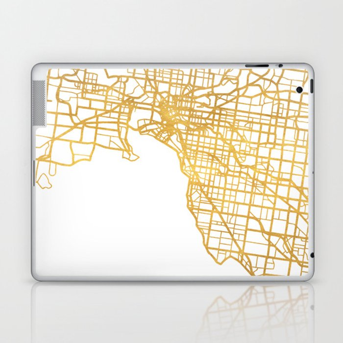 Australia Melbourne Map.Melbourne Australia City Street Map Art Laptop Ipad Skin By Deificusart