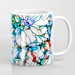 Glass stain mosaic 3 floral - by Brian Vegas Coffee Mug