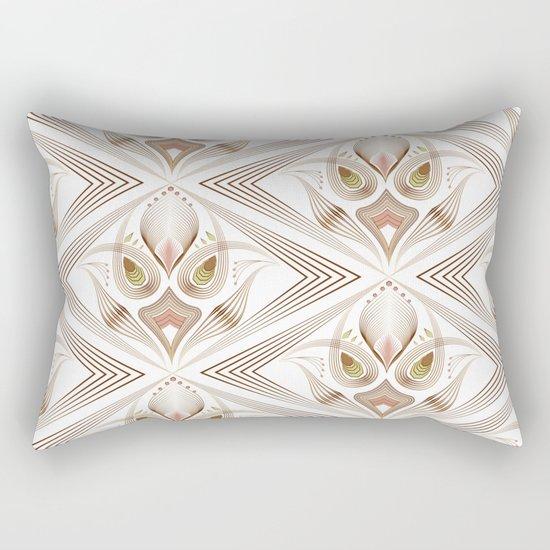 "Art Deco 39. "" Flo  "". Rectangular Pillow"