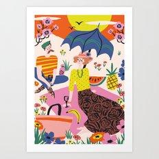 Sunset Picknick Art Print