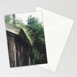 Overgrown Wild Flower Garden on a Shed Stationery Cards