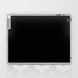 Black and White Floral Mandela Laptop & iPad Skin
