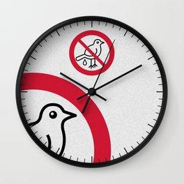 Birds Sign Logo 2 Wall Clock