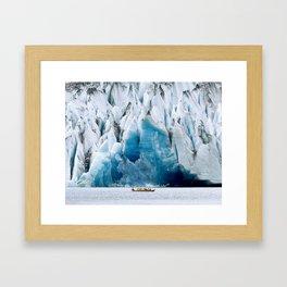 Ride to the Alaskan Glacier Framed Art Print