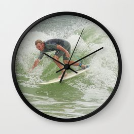 Ponce Surfer 121611 Wall Clock