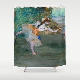 "Edgar Degas ""Dancer on stage"" Shower Curtain"