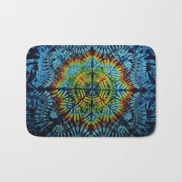 Exhale: A vibrant mix of colors of the rainbow Bath Mat