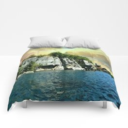 Golden Sky Over the Mountain - Mohonk Comforters