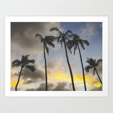 Sunset of the Palms Art Print