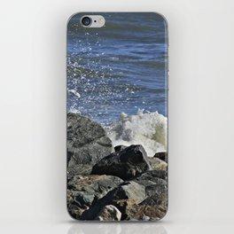 Seagull Watching The Waves Break iPhone Skin
