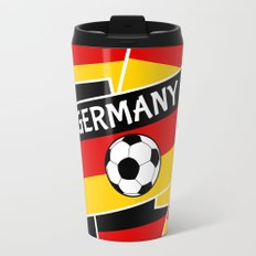 German Flag Football Travel Mug