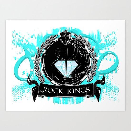 ROCK KINGS CREST Art Print