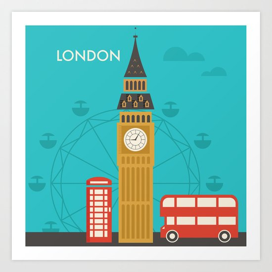 Attractions of London Art Print