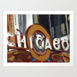 Historic Chicago Theater Art Print