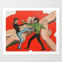 Wing Chun Kung Fu Art Print