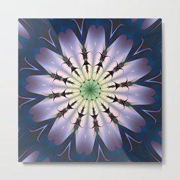 Spacey Flower Mandala Metal Print