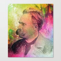nietzsche Canvas Prints featuring F.W. Nietzsche by Taylan Soyturk