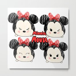 Tsum Minnie Metal Print