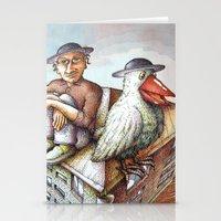 jewish Stationery Cards featuring Jewish Bird by Michael Zobak