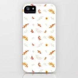 Watercolor autumn iPhone Case