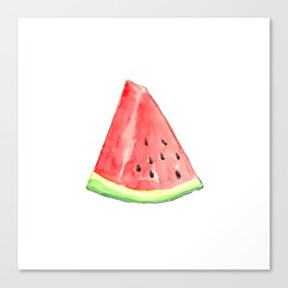 Watermelon Red Piece Canvas Print